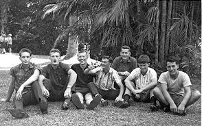 Photo Kev, Ray, Bill Hansen, Eddie, Dave, Peter and Joe Malaya 1964.